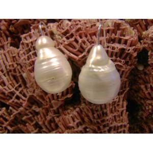 Boucles d'oreilles perles baroques