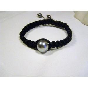Bracelet mélie perle grise