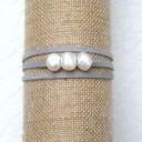 Bracelets 3 perles de culture baroques